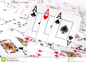 three-kind-aces-casino-gambling-poker-playing-cards-shown-sitting-spread-out-deck-cards-white-46406523