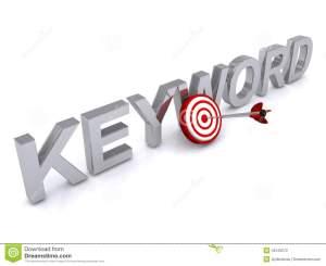keyword-text-silver-uppercase-letters-red-white-dart-board-touching-dart-bull-s-eye-white-background-45125072